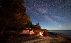 Feu de camping en Espagne